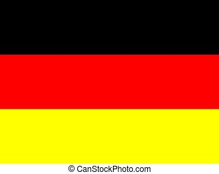 Official national flag of Germany. National symbol...