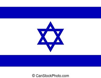 Flag of Israel, vector illustration.