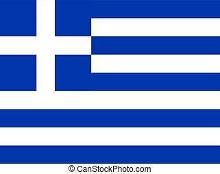 Flag of Greece, vector illustration.