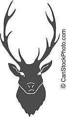 Deer Head isolated on white background. Vector