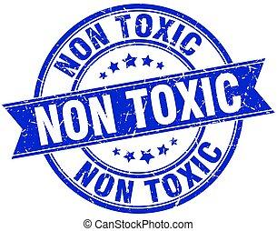 non toxic round grunge ribbon stamp