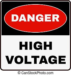 High Voltage. Danger Sign. Vector - High Voltage Danger...