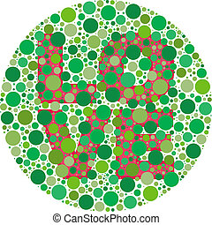 Can You See the Love - Inspired by colour blind tests, the...