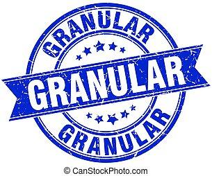 granular round grunge ribbon stamp