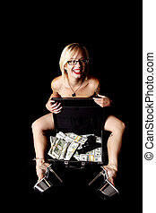 Sexy woman with cash