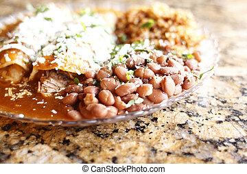 Un, placa, gastrónomo, Enchiladas