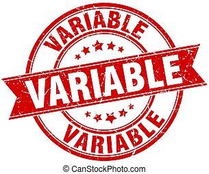 variable round grunge ribbon stamp