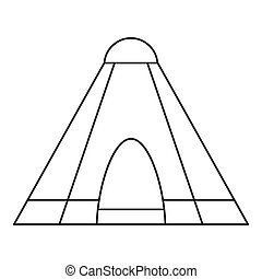 Tepee tent icon, outline style - Tepee tent icon. Outline...