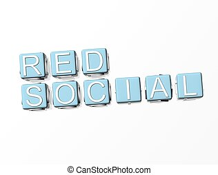 3D Red Social Crossword
