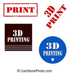 3D Printing-stamps - Set of stamps with text 3D...