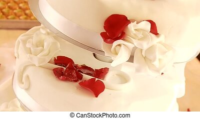 Wedding Flan With Roses - Wedding Flan