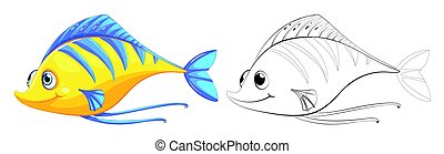 Animal outline for small fish illustration