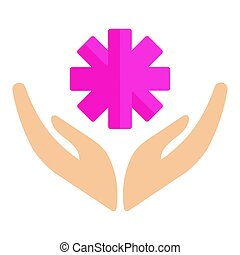 Volunteer icons charity donation vector humanitarian awareness hand hope aid support