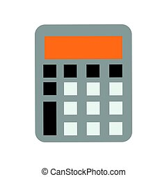 Mathematics business calculator technology vector icon...