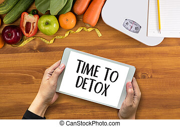 TIME TO DETOX Fitness and weight loss concept