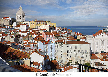 The roofs of Alfama district in Lisbon - The roofs of Alfama...
