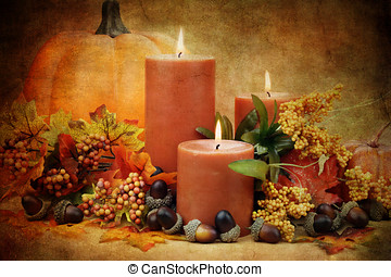 Autumn Still Life - Photo based illustration of an autumn...