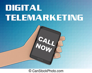 Digital Telemarketing concept - 3D illustration of 'CALL...