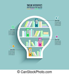 timeline infographic design business concept with 4 options.