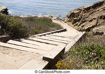 Trail at Point Loma National Park in San Diego