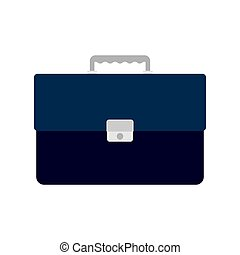 briefcase with lock, isolated on white background, vector...
