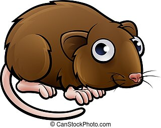 Vole Cartoon Character - A vole or brown mouse cartoon...