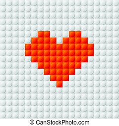 Seamless constructor background with heart