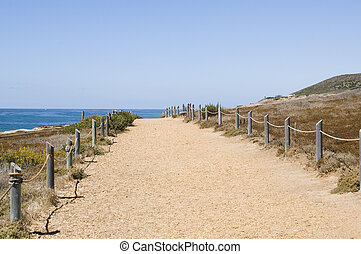 Trail at Point Loma in San Diego