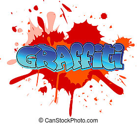Graffiti background - Urban graffiti design on blobs...