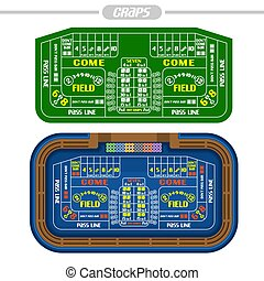 Vector image of Craps Table