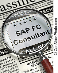 SAP FC Consultant Job Vacancy. 3D. - Newspaper with...