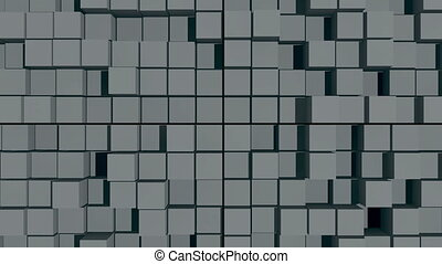 abstract background with surface cubes. Seamless loop
