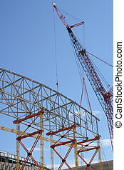 Construction frame and crane - Construction frame of a large...