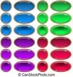 Glass Buttons, Set