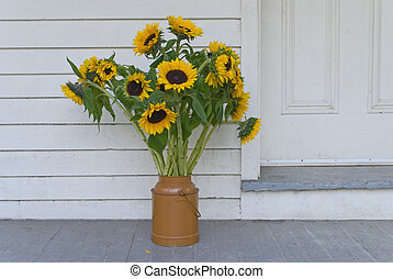 Sunflowers on Porch