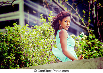 Love Story about young African American woman missing you...