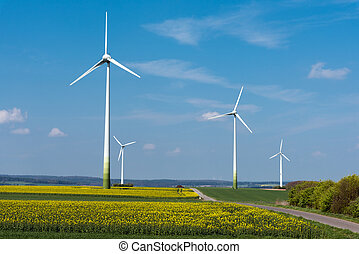 Wind energy in rural Germany - Wind energy in a blooming...