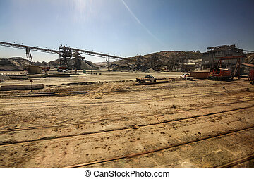 Construction Site - A construction site with a lot of dirt...