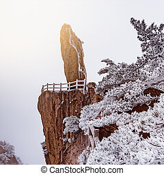 Amazing cliff form of Huangshan National park. China