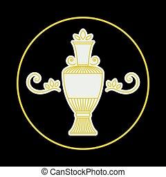 Vector vintage jug symbol - Vintage ornament with jug....