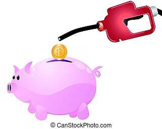 pump money to piggy
