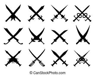 heraldic swords set
