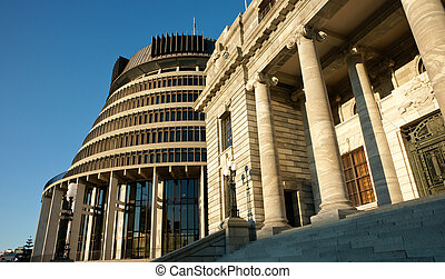 Parliament buildings, Wellington - Parliament Buildings,...
