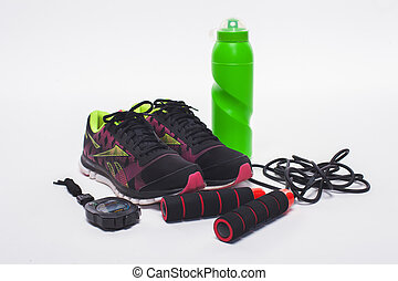 Sport objects equipment isolated healthy active lifestyle