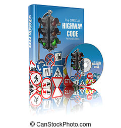 Highway code book and disk. Book of traffic rules and law...