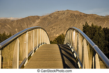 Lake Tekapo New Zealand Walking Bridge to the Church