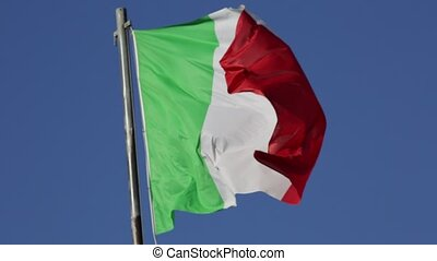 Flag of Italy - Waving flag of Italy, green white and red...