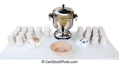 coffee urn and cups - coffee station - coffee urn and cups...