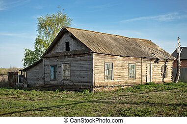 Old wooden rural house in Russia