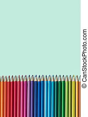 Coloring Pencils With Copy Space - Set Of Children's...